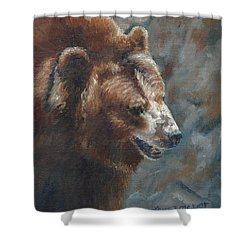 Nate - The Bear Shower Curtain