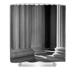 National Archives Columns Shower Curtain by Inge Johnsson