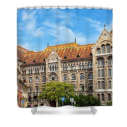 National Archives Of Hungary Shower Curtain by Artur Bogacki