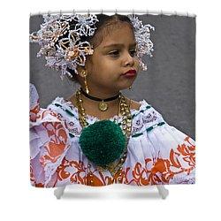 National Costume Of Panama Shower Curtain by Heiko Koehrer-Wagner
