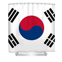 National Flag Of South Korea Authentic  Shower Curtain
