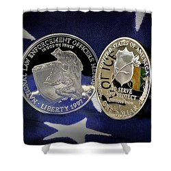 National Law Enforcement Memorial Mint Shower Curtain by Gary Yost