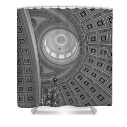 National Statuary Rotunda Bw Shower Curtain