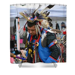 Shower Curtain featuring the photograph Native American Dancer by Kathy Baccari