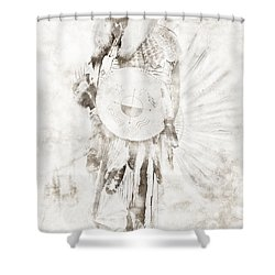 Shower Curtain featuring the digital art Native American by Erika Weber