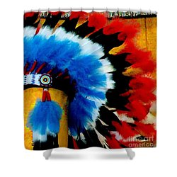 Native American Headdress Shower Curtain