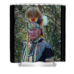 Native American Portrait Shower Curtain