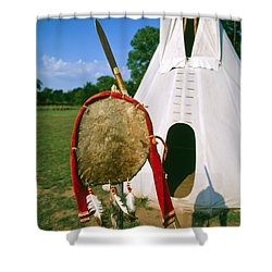 Native American Shield And Spear Shower Curtain