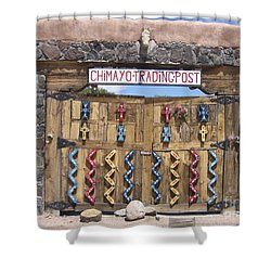 Shower Curtain featuring the photograph Native American Trading Post by Dora Sofia Caputo Photographic Art and Design