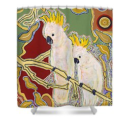 Native Aussies Shower Curtain by Pat Saunders-White