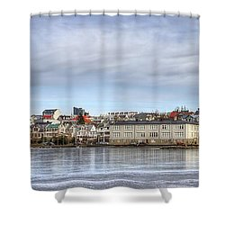 Native Harmony Shower Curtain by Evelina Kremsdorf