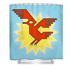 Native South American Condor Bird Shower Curtain