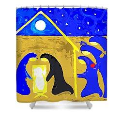 Nativity 2 Shower Curtain by Patrick J Murphy