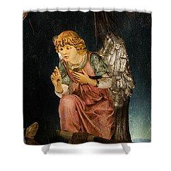 Nativity Angel  Shower Curtain by Susan  McMenamin