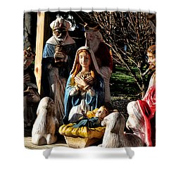Nativity Shower Curtain by Bill Cannon