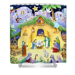 Nativity For Children Shower Curtain