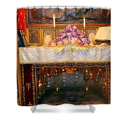 Nativity Grotto Shower Curtain