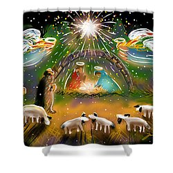 Nativity Shower Curtain by Jean Pacheco Ravinski