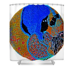 Nativity Of Jesus Shower Curtain by Gloria Ssali
