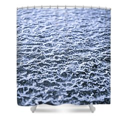 Natural Abstracts - Icy Surface Shower Curtain