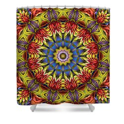 Shower Curtain featuring the digital art Natural Attributes 01 Horizontal by Wendy J St Christopher
