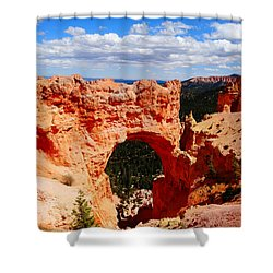 Natural Bridge In Bryce Canyon National Park Shower Curtain by Dan Sproul