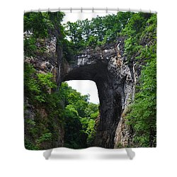 Natural Bridge In Rockbridge County Virginia Shower Curtain by Bill Cannon