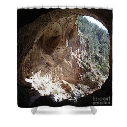 Natural Bridge View Shower Curtain by Kerri Mortenson