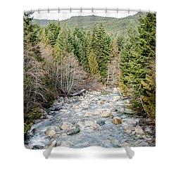 Island Stream Shower Curtain