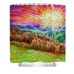 Nature 1  25 2015 Shower Curtain by Hidden  Mountain
