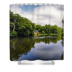 Nature Center On Salt Creek Shower Curtain by Thomas Woolworth
