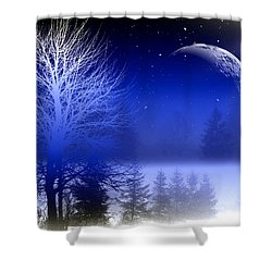 Nature In Blue  Shower Curtain by Mark Ashkenazi
