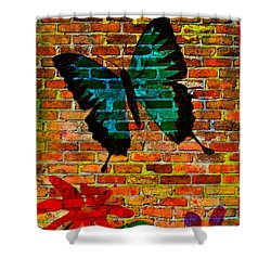 Nature On The Wall Shower Curtain by Leanne Seymour