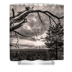 Natures Arch Shower Curtain by Debra and Dave Vanderlaan