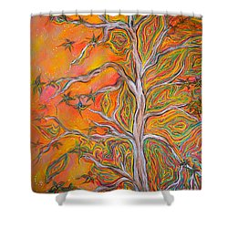 Nature's Energy Shower Curtain by Deborha Kerr