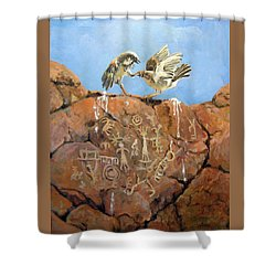 Nature's Fury Shower Curtain by Donna Tucker