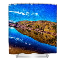 Natures Guitar Shower Curtain by Omaste Witkowski