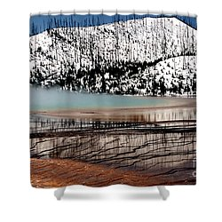 Nature's Mosaic I Shower Curtain by Sharon Elliott
