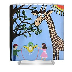 Shower Curtain featuring the painting Nature's Playground by Kathleen Sartoris