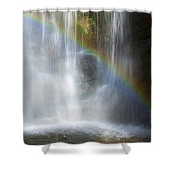Shower Curtain featuring the photograph Natures Rainbow Falls by Jerry Cowart