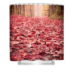 Nature's Red Carpet Revisited Shower Curtain by Edward Fielding