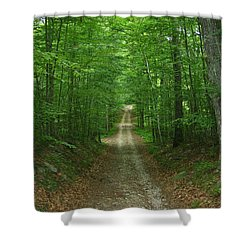 Shower Curtain featuring the photograph Nature's Way At James L. Goodwin State Forest  by Neal Eslinger