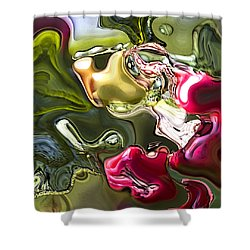 Shower Curtain featuring the painting Naturescape by Richard Thomas