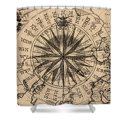 Nautical II Shower Curtain by James Christopher Hill