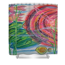 Nautical Rush Hour Shower Curtain by Diane Pape