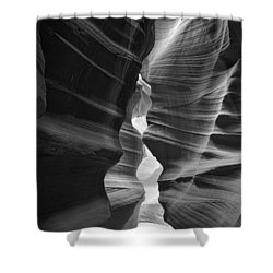 Antelope Canyon Black And White Shower Curtain