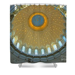 Naval Academy Chapel Side Dome Shower Curtain by Mark Dodd