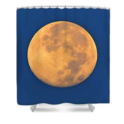 Shower Curtain featuring the photograph Navarre Beach Full Moon At Sunrise by Jeff at JSJ Photography