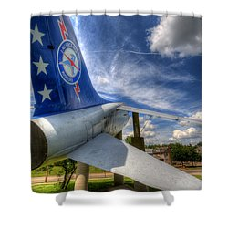 Navy A-7 Fighter Static Display Shower Curtain
