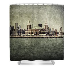 Navy Pier Shower Curtain by Andrew Paranavitana